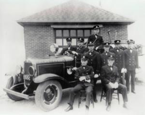 1930's Alderwood neigbourhood fire brigade